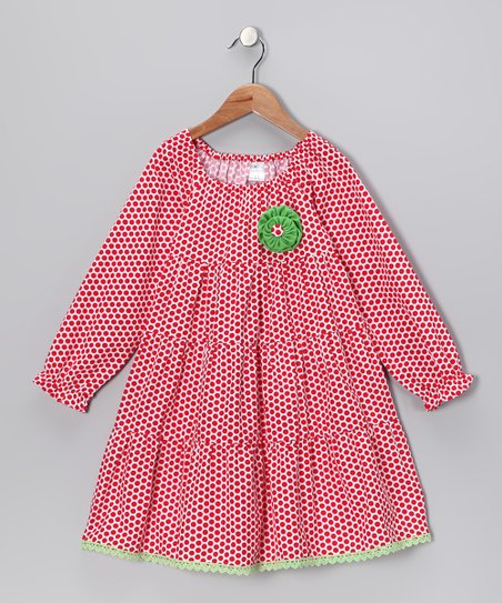 Red Polka Dot Tiered Dress - Infant, Toddler & Girls
