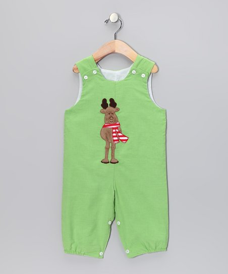 Lime Reindeer Classic Overalls - Infant & Toddler