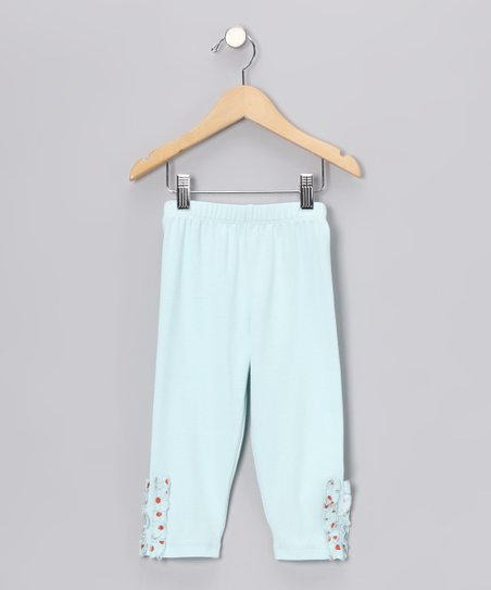 Aqua & Red Leggings - Infant, Toddler & Girls