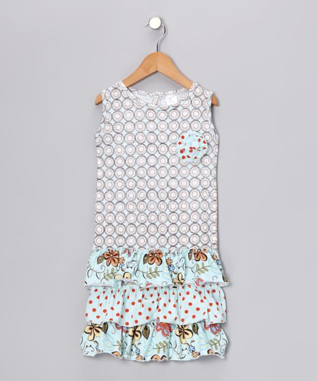 Aqua Drop-Waist Dress - Toddler &amp; Girls