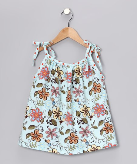 Aqua Tie Top - Infant