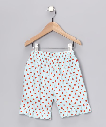 Aqua Ruffle Shorts - Infant & Girls