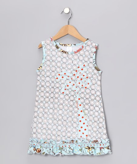 Aqua Palm Tree Dress - Infant, Toddler & Girls