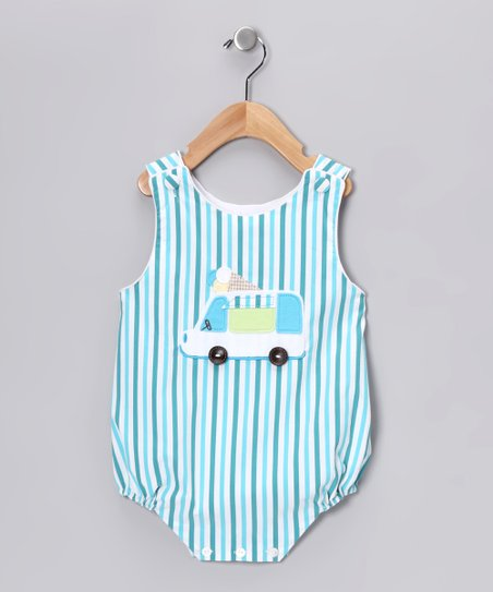 Aqua Stripe Bubble Bodysuit - Infant
