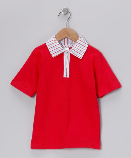 Red Collar Shirt - Toddler