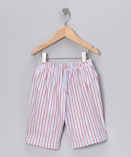 Red & Blue Stripe Shorts - Infant, Toddler & Boys