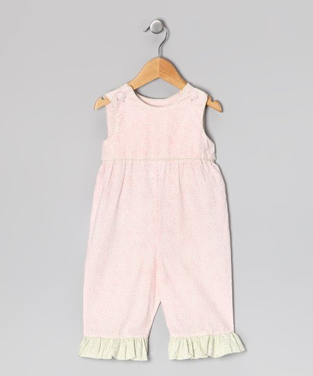 Pink Floral Sash Romper - Infant