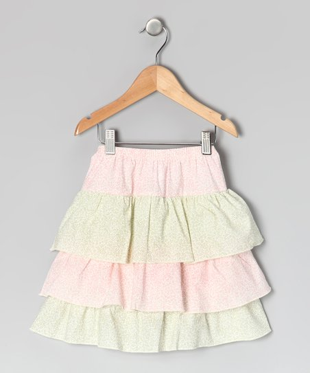 Pink & Sage Floral Ruffle Skirt - Infant, Toddler & Girls