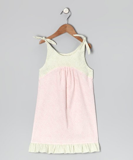 Pink & Sage Floral Tie Dress - Infant, Toddler & Girls