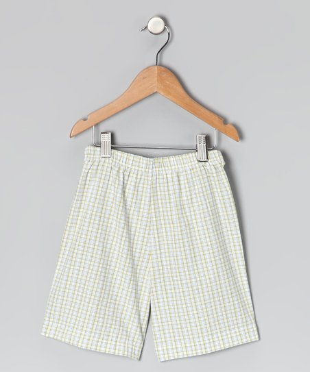 Green Plaid Shorts - Infant, Toddler & Boys