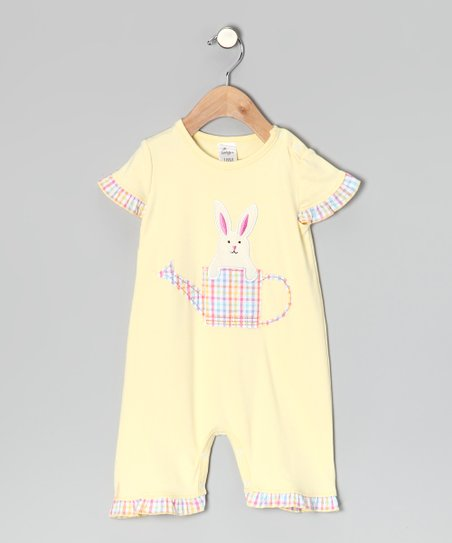 Yellow Bunny Romper - Infant