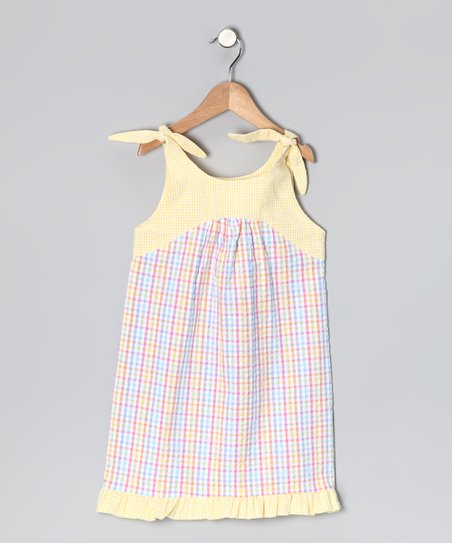 Pink & Yellow Tie Dress - Infant & Toddler