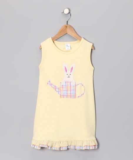 Yellow Bunny Knit Dress - Infant