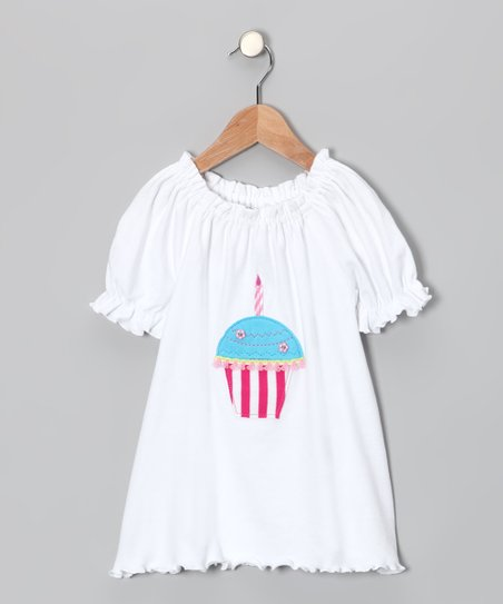 White Cupcake Ruffle Peasant Tunic - Infant, Toddler & Girls