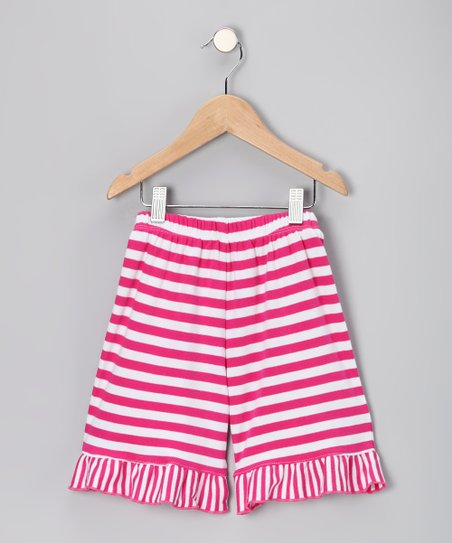 Pink Stripe Shorts - Infant, Toddler &amp; Girls