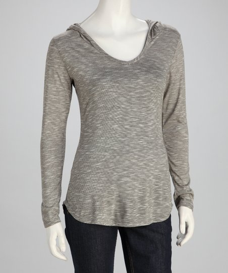 Gray Hooded Top