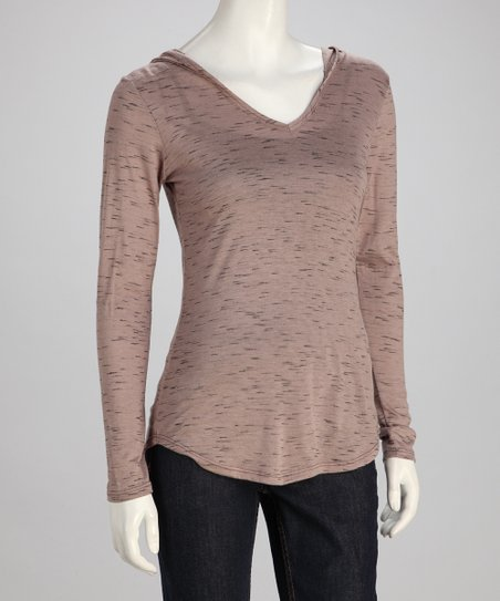 Taupe Hooded Top