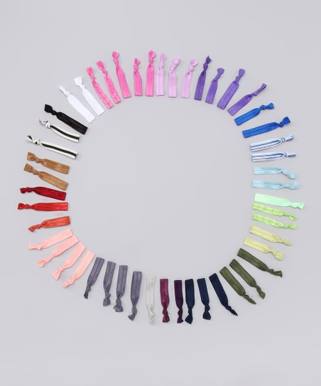 Rainbow Hair Tie Set