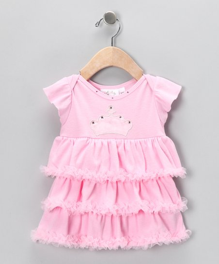 Pink Queen Skirted Bodysuit - Infant