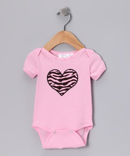 Pink Sassy Safari Ruffle Bodysuit - Infant