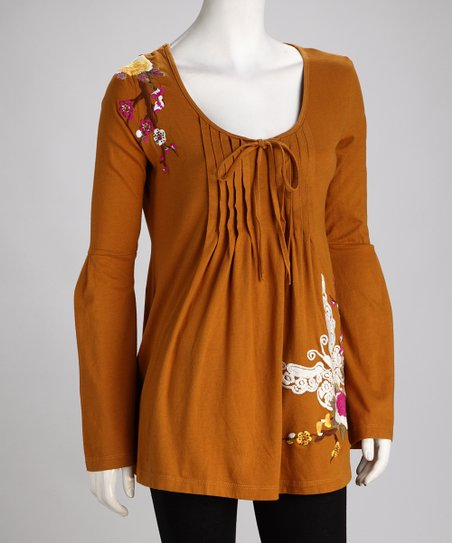 Biz Earth Embroidered Tunic