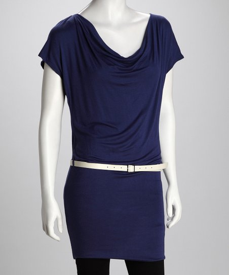 Bella D Navy Belted Tunic