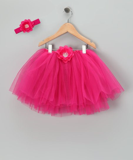Hot Pink Sequin Flower Tutu & Headband
