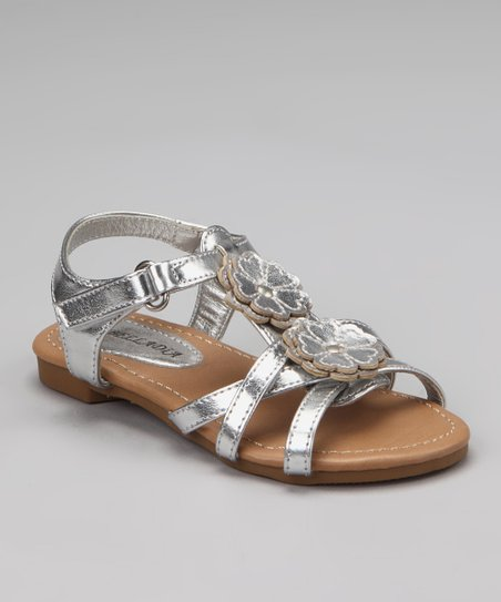 Silver Katy Double Flower Sandal