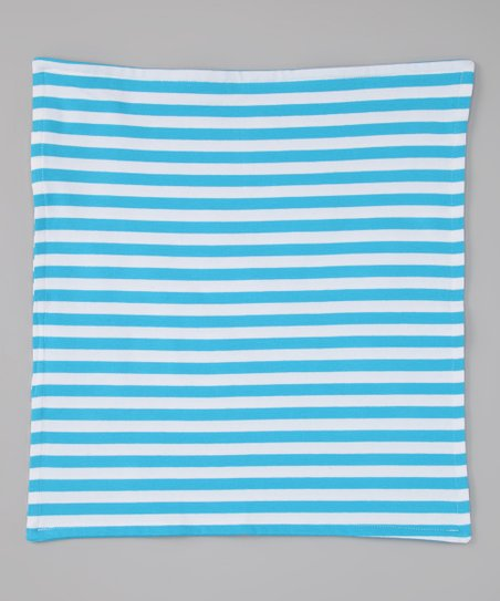 Turquoise &amp; White Security Blanket