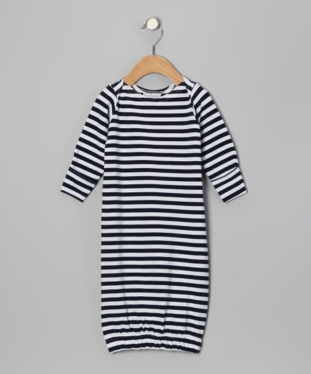 Navy & White Gown - Infant
