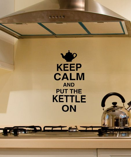 Belvedere Designs Black 'Keep Calm' Kettle Wall Decal