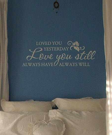Belvedere Designs White 'Love You Still' Wall Decal
