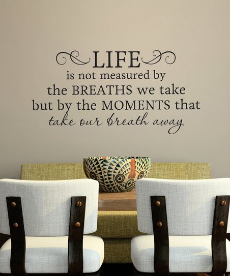Black 'Life is Not Measured' Wall Decal