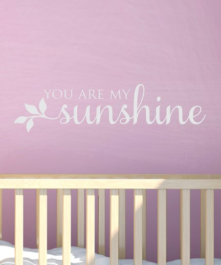 White 'My Sunshine' Wall Decal