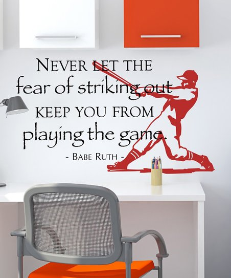 Black &amp; Dark Red &#039;Strikeout&#039; Wall Decal