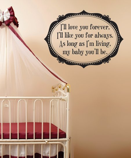 Black 'Love You Forever' Frame Wall Decal