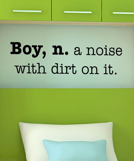 Black 'Boy' Definition Wall Decal