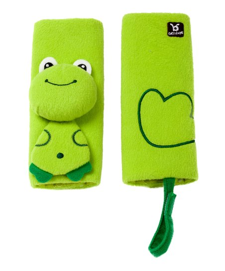 Green Frog Seat Belt Pad Set