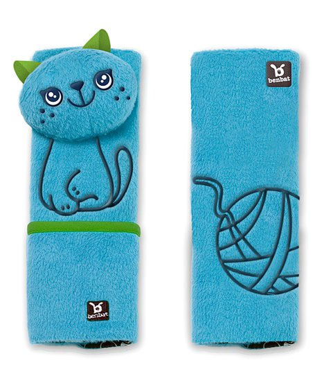 Blue Cat Seat Belt Pad Set