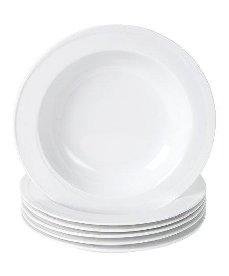 White Elan Soup Bowl - Set of Six
