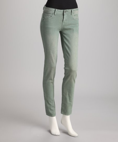Blue Vintage Wash Straight-Leg Jeans