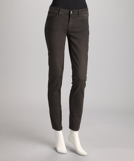 Gray Vintage Wash Straight-Leg Jeans