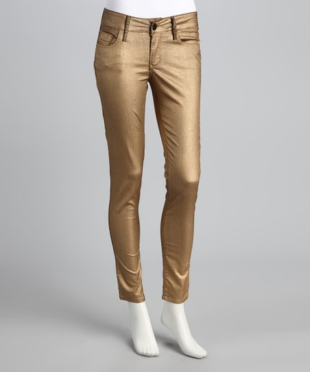 Gold Jewel Skinny Jeans