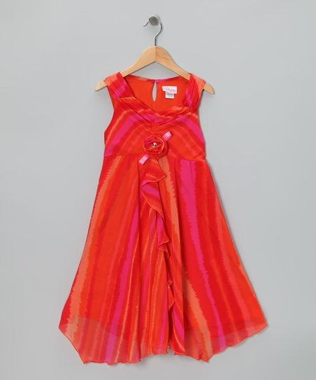 Fuchsia Tie-Dye Dress - Girls Plus