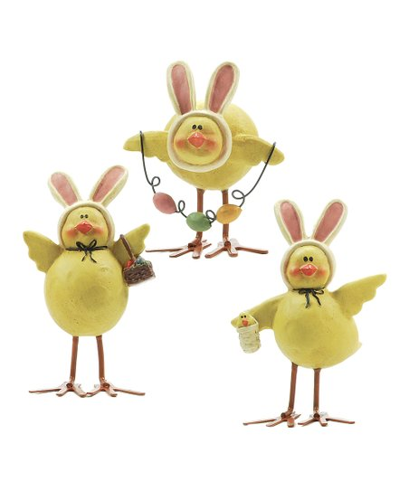 Bunny Ear Chick Collectible Set