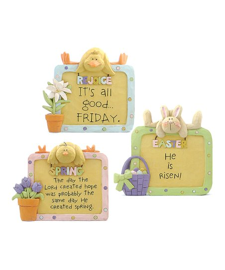 Inspirational Spring &amp; Easter Plaque Set
