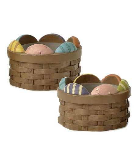 Easter Basket Candleholder Set