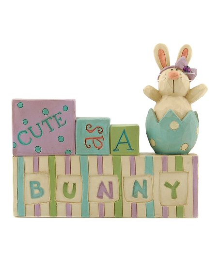 'Cute as a Bunny' Block Collectible