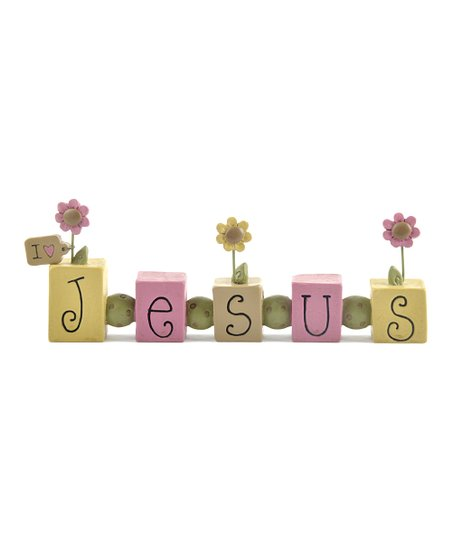 'Jesus' Floral Bead Block Collectible