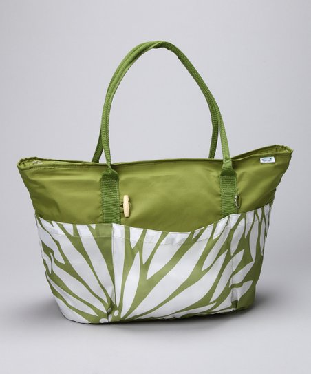 Kiwi Wildflower Big Chil Recycled Tote